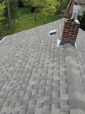 Residential asphalt shingle roofing project